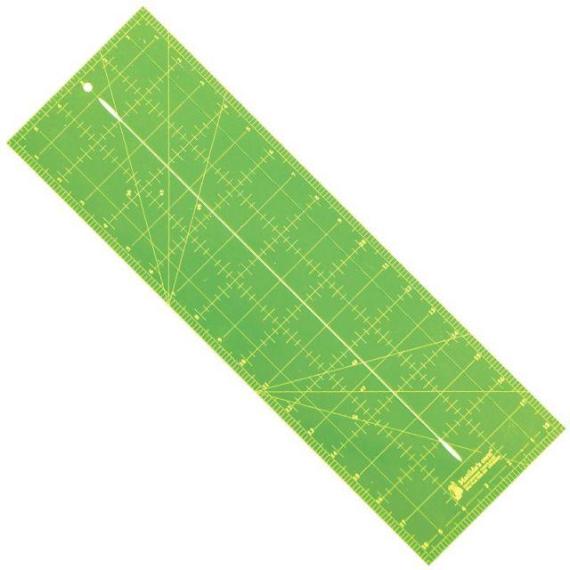 "Bias Tape Cutting Ruler 18½"" x 6"" by Matilda's Own - Bias, Binding, Mitering, Piping Rulers"
