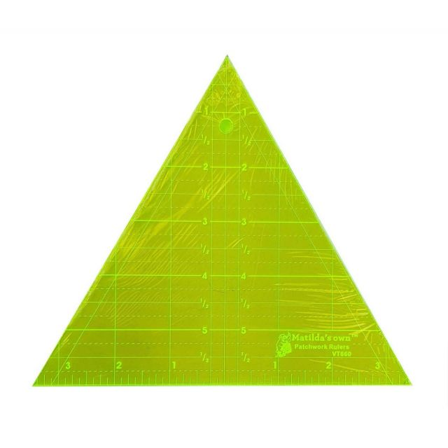 """Matilda's Own 6"""" Tall 60 Degree Triangle by Matilda's Own - Triangles 60 Degrees"""