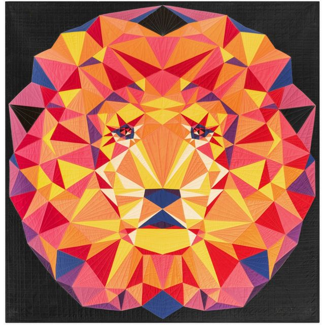 Jungle Abstractions: The Lion Quilt Kit by Violet Craft by Violet Craft - Quilt Kits