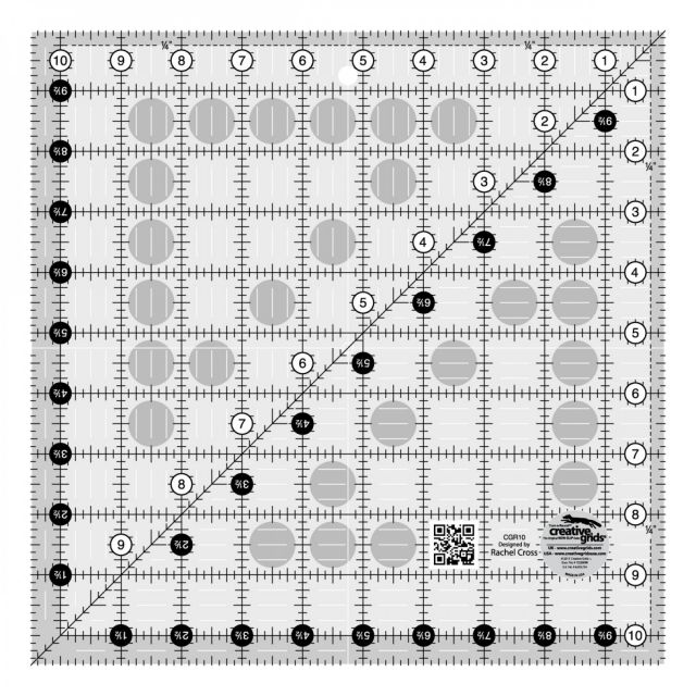 """Creative Grids Ruler 10½"""" Square by Creative Grids - Square Rulers"""