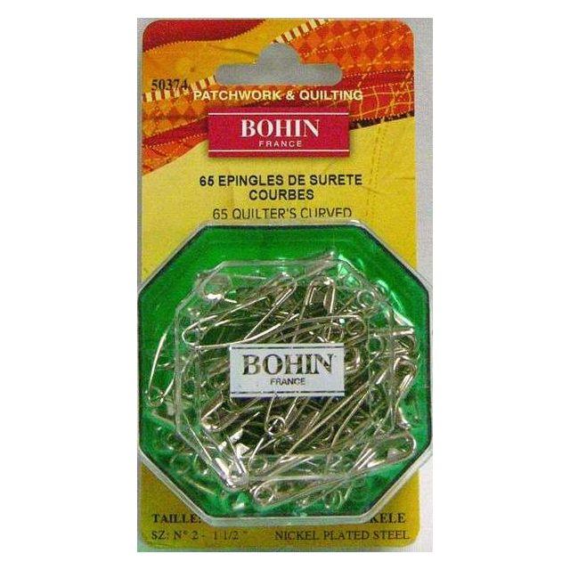 "Bohin Quilters Curved Basting Pins 1.5"" Long (65 Pins)"