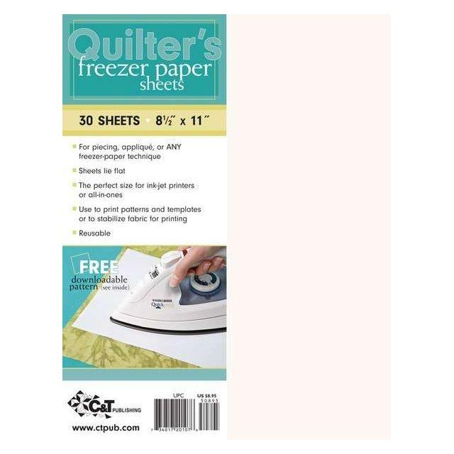 Quilter's Freezer Paper Sheets  8 1/2î x 11î (30 Sheets)