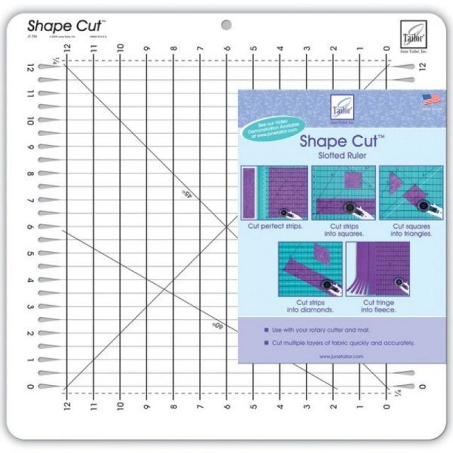 "June Tailor Shape Cut Ruler 12"" x 12"""