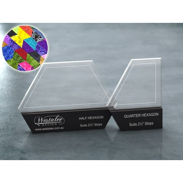 "Westalee Hexagon 2.5"" Stash Buster Set -suits 2.5"" strips"