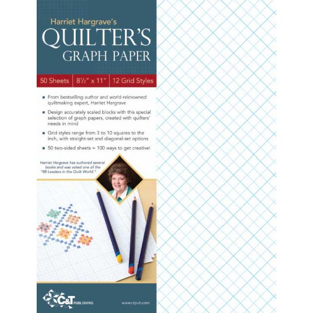 """Harriet Hargrave's Quilter's Graph Paper 8.5"""" x 11"""" (50 double sided sheets)"""