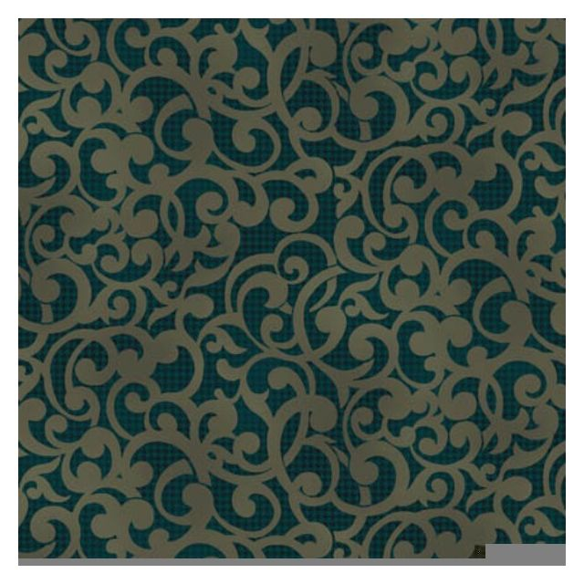 "Filigree 108"" wide Quilt Back -Dark Green"