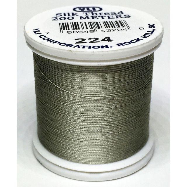 YLI Silk 100 Thread -224 Silver Grey