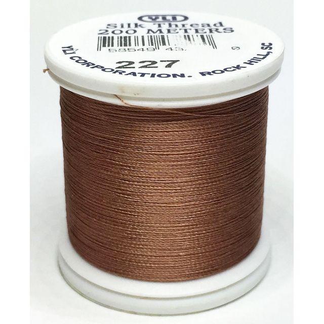 YLI Silk 100 Thread -227 Light Brown