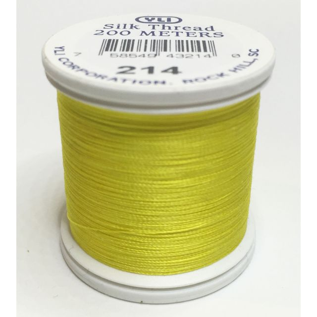 YLI Silk 100 Thread -214 Lemon Yellow