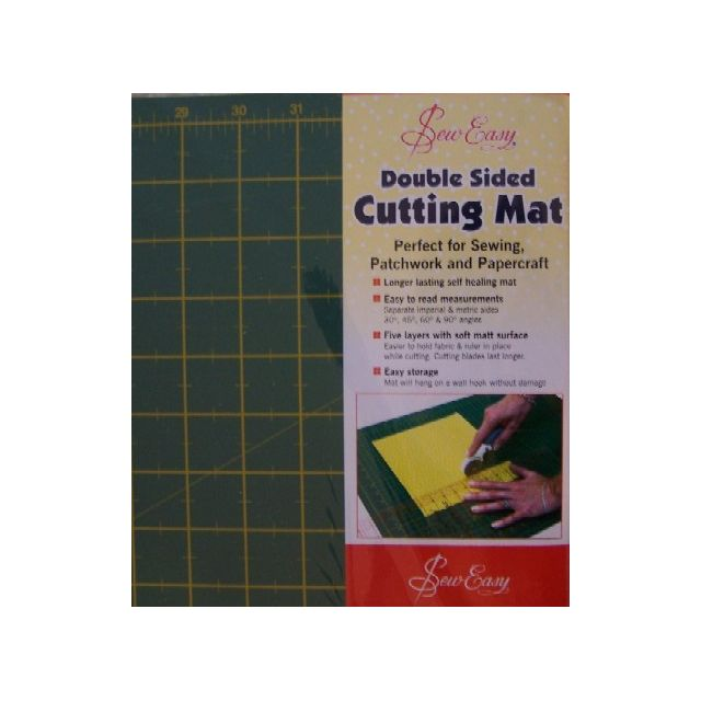 "Sew Easy Double Sided Cutting Mat - Large 24"" x 18""/ 60cm x 45cm"