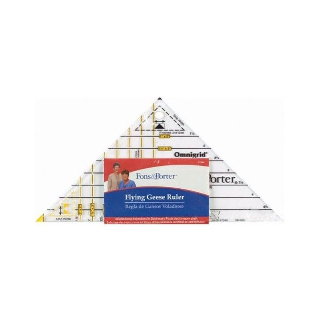 """Fons & Porter Super Flying Geese Ruler - For Sizes from 1"""" x 2"""" Inch to 4"""" X 8"""""""