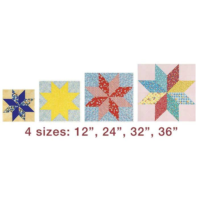 Clover Trace N Create Lone Star Quilt Patchwork Template By Clover
