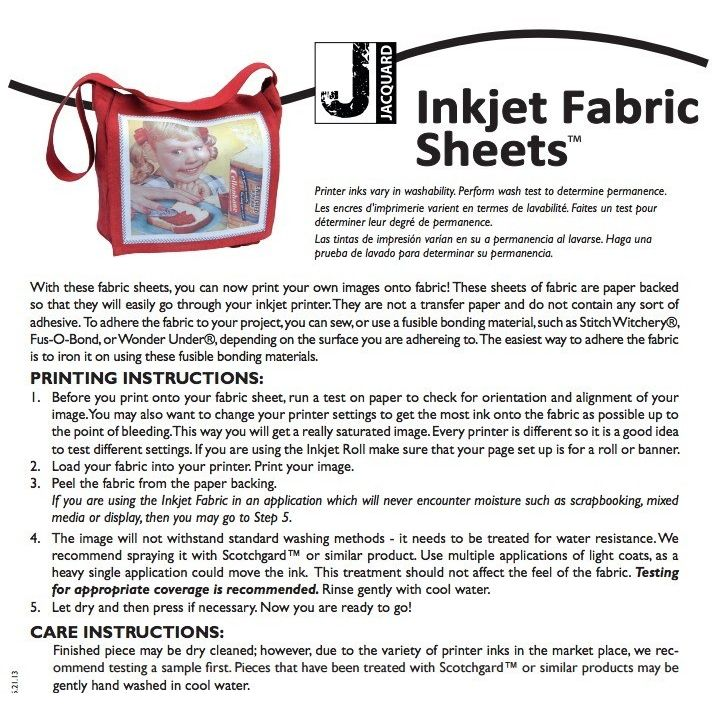 Crush image with regard to printable fabric sheets for inkjet printers