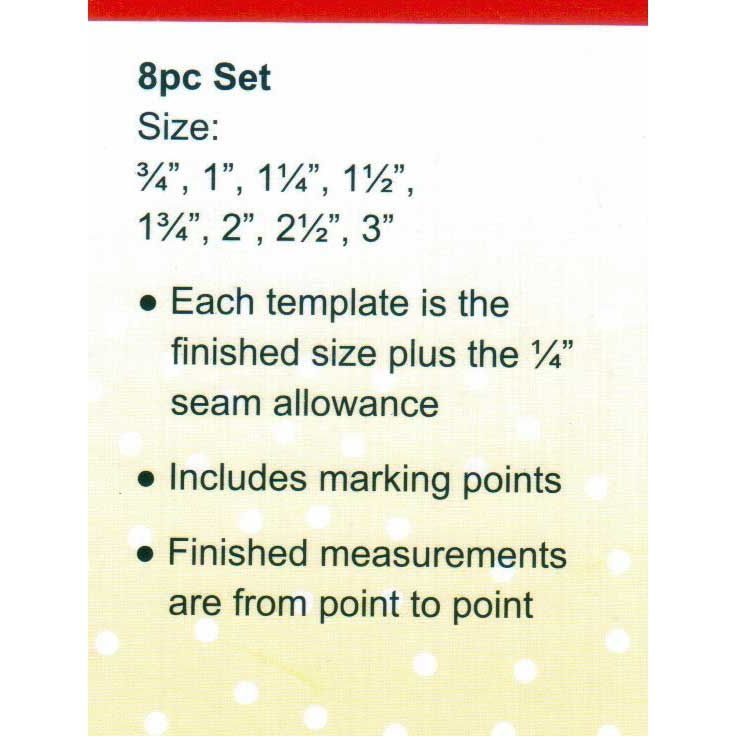 Sew Easy Hexagon Patchwork Template Set by Sew Easy