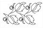 Full Line Stencil Double Le Mae by Hancy Full Line Stencils Pounce Pads & Quilt Stencils - OzQuilts