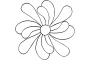 """Full Line Stencil Feather Flower, 1-way petal -7.5"""" by Hancy Full Line Stencils Pounce Pads & Quilt Stencils - OzQuilts"""